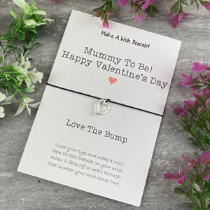 Mummy To Be Happy Valentine's Day Wish Bracelet-6-The Persnickety Co