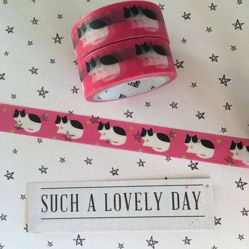 Bright Pink Cat Washi Tape-The Persnickety Co