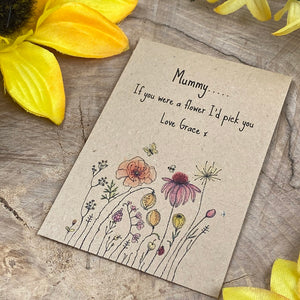 Mummy If You Were A Flower Mini Kraft Envelope with Wildflower Seeds-4-The Persnickety Co