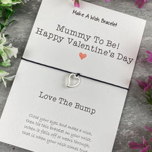 Load image into Gallery viewer, Mummy To Be Happy Valentine's Day Wish Bracelet-5-The Persnickety Co