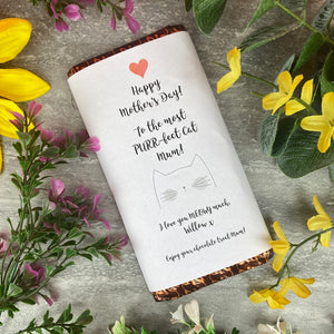 Purrfect Cat Mum Mothers Day Chocolate Bar-The Persnickety Co