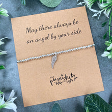 Load image into Gallery viewer, May There Always Be An Angel By Your Side Beaded Bracelet-4-The Persnickety Co