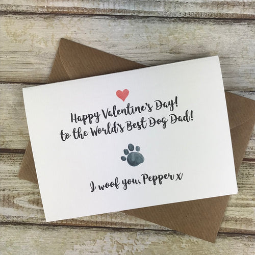 Happy Valentine's Day! Worlds Best Dog Dad/Mum!-The Persnickety Co