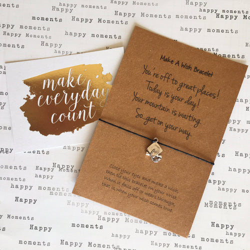 You're Off To Great Places Wish Bracelet-The Persnickety Co