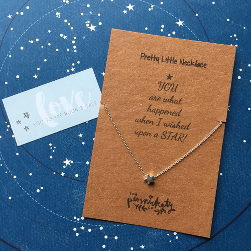 You Are What Happened When I Wished Upon A Star Necklace-The Persnickety Co