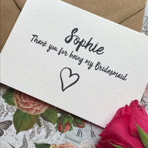 Personalised Thank You For Being My Bridesmaid-6-The Persnickety Co