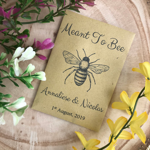 Meant To Bee Seed Wedding Favour Pack of 12-The Persnickety Co