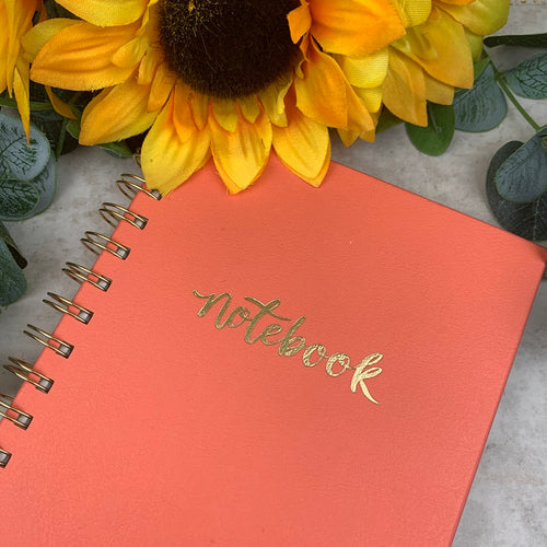 Coral Spiral Bound Notebook-The Persnickety Co