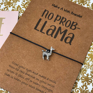 No Prob Llama Wish Bracelet-2-The Persnickety Co