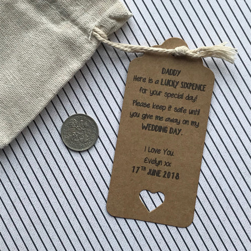 Lucky Sixpence Gift Bag For Dad-The Persnickety Co