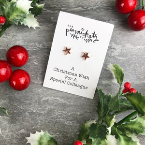 A Christmas Wish For A Special Colleague - Star Earrings-2-The Persnickety Co