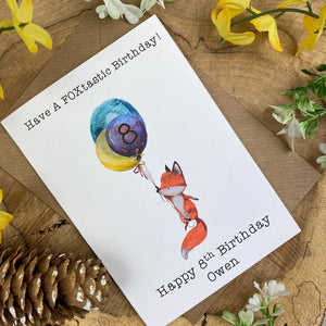 FOXtastic Birthday Card-The Persnickety Co