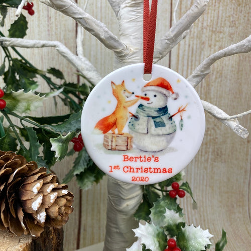 Snowman 1st Christmas Hanging Decoration-The Persnickety Co