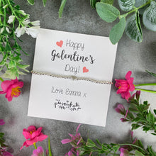 Load image into Gallery viewer, Personalised Galentine's Day Beaded Bracelet