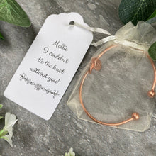 Load image into Gallery viewer, Wedding Knot Bangle With Initial Charm in Rose Gold-6-The Persnickety Co