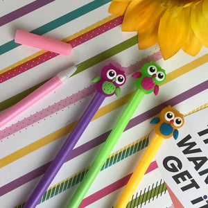 Colourful Owl Gel Pen-4-The Persnickety Co