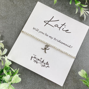 Bridesmaid Initial Beaded Bracelet-7-The Persnickety Co