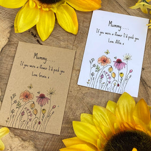 Mummy If You Were A Flower Mini Kraft Envelope with Wildflower Seeds-6-The Persnickety Co