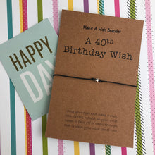 Load image into Gallery viewer, A 40th Birthday Wish - Star-The Persnickety Co