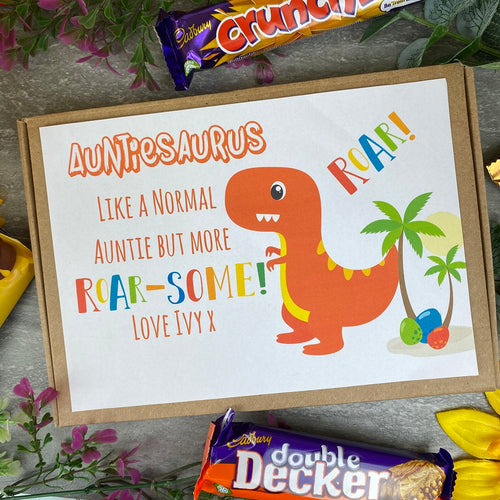 Auntiesaurus Personalised Chocolate Box-The Persnickety Co