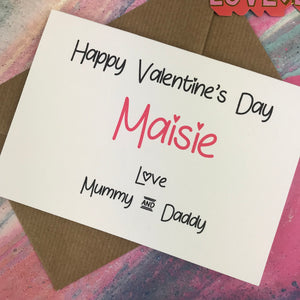 Personalised Happy Valentine's Day From Mummy And Daddy Card-8-The Persnickety Co