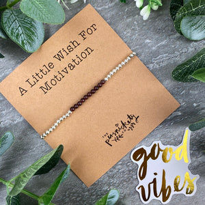 A Little Wish For Motivation - Beaded Bracelet-9-The Persnickety Co