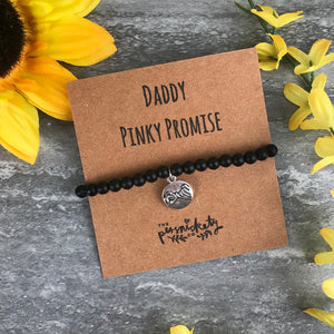 Daddy Pinky Promise Black Onyx Bracelet-6-The Persnickety Co