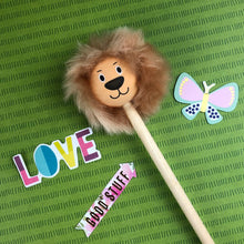 Load image into Gallery viewer, Lion Pencil with Fluffy Mane-8-The Persnickety Co