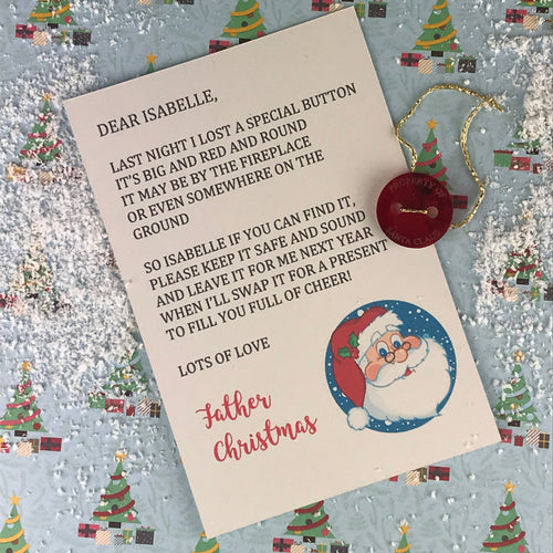 Personalised Santa's Lost Button-The Persnickety Co