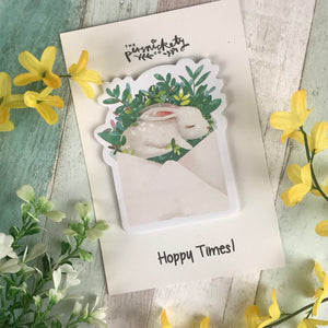 Cute Bunny Sticky Notes-5-The Persnickety Co