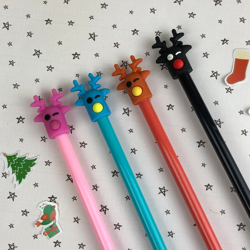 Winking Reindeer Gel Pen-The Persnickety Co