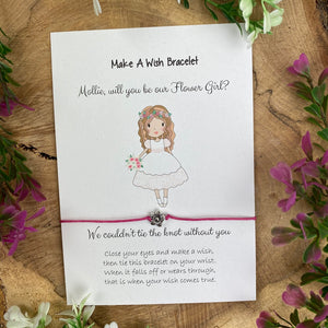 Will You Be Our Flower Girl Wish Bracelet-5-The Persnickety Co