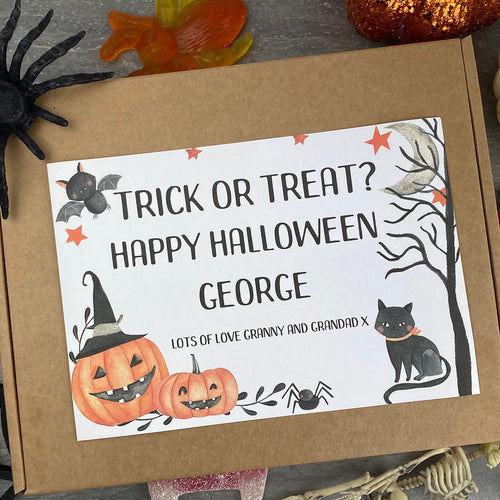 Trick Or Treat Personalised Halloween Sweet Box-The Persnickety Co