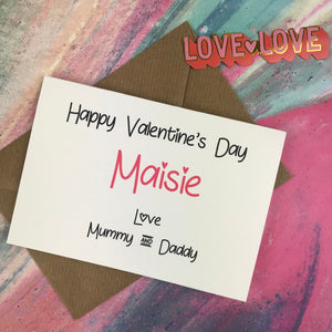Personalised Happy Valentine's Day From Mummy And Daddy Card-7-The Persnickety Co