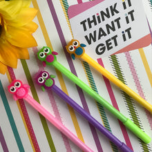 Load image into Gallery viewer, Colourful Owl Gel Pen-The Persnickety Co