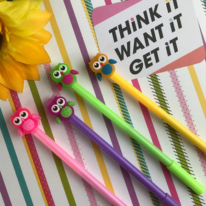 Colourful Owl Gel Pen-The Persnickety Co
