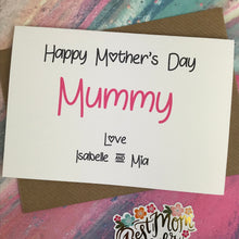 Load image into Gallery viewer, Happy Mother's Day Mummy/Mum/Mom/Mam Personalised Card-4-The Persnickety Co