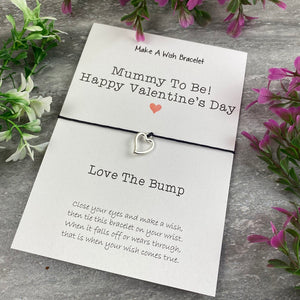Mummy To Be Happy Valentine's Day Wish Bracelet-4-The Persnickety Co