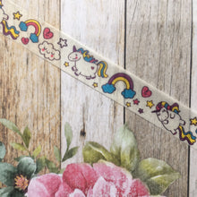 Load image into Gallery viewer, Happy Unicorn and Rainbows Washi Tape-3-The Persnickety Co