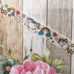 Happy Unicorn and Rainbows Washi Tape-3-The Persnickety Co