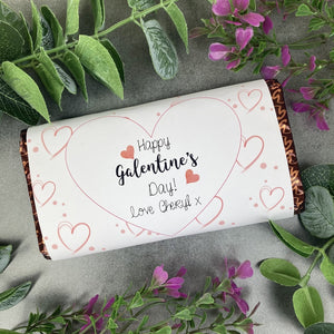Heart Happy Galentine's Day Chocolate Bar
