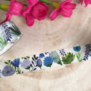 Blue Floral Washi Tape-3-The Persnickety Co