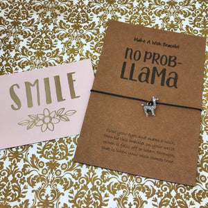 No Prob Llama Wish Bracelet-8-The Persnickety Co
