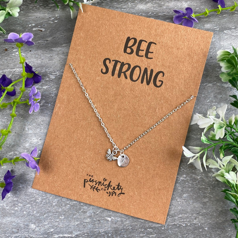 Bee Strong Necklace-The Persnickety Co