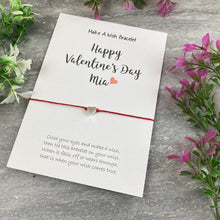 Load image into Gallery viewer, Happy Valentine's Day Personalised Wish Bracelet-2-The Persnickety Co