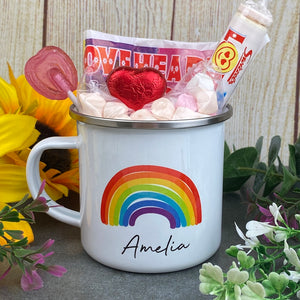 Enamel Mug - Rainbow The Greater The Storm