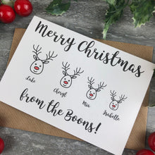 Load image into Gallery viewer, Personalised Reindeer Cards-5-The Persnickety Co