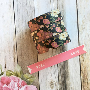 Pink & Purple Flower Washi Tape-3-The Persnickety Co
