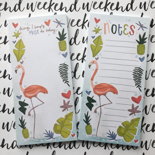 Flamingo List Pad-The Persnickety Co