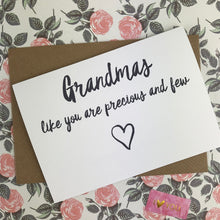 Load image into Gallery viewer, Mother's Day Card Grandmas Like You Are Precious And Few-3-The Persnickety Co